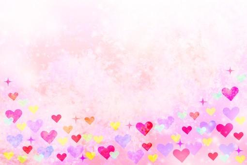 Heart full pink