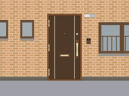 Entrance apartment background