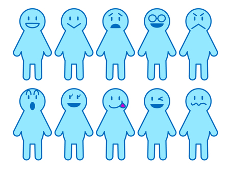 Person icon set (light blue)