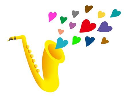 하트의 음색의 색소폰