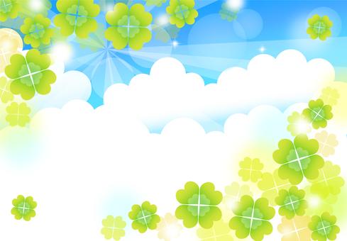 Four-leaf background