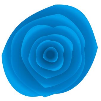 リアルな青バラアイコン素材