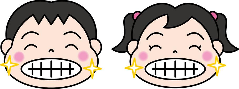 건강한 어린이의 치아