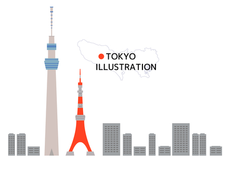도쿄 일러스트 01