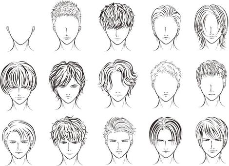 Male Hairstyle Illustration