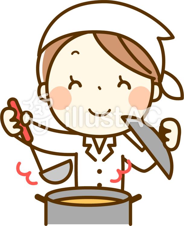 料理をする調理師さんイラスト No 139350無料イラストなら