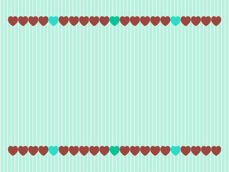 발렌타인 초콜릿 민트 하트 배경