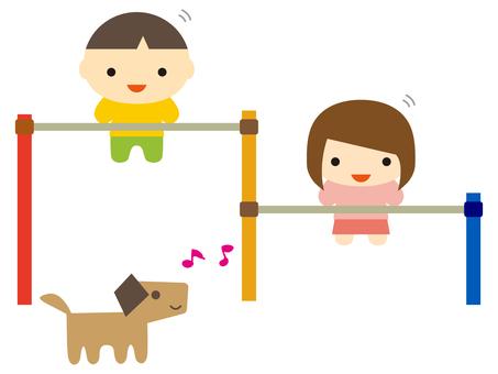鐵棒和孩子