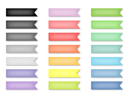 Shadow and highlight ribbon set