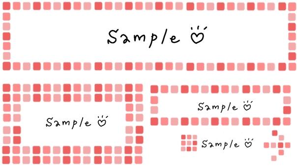 Pink tile pattern frame