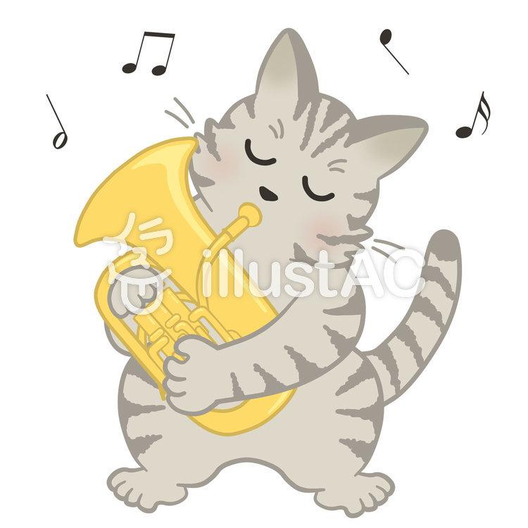 ユーフォニアム猫つきイラスト No 1197086無料イラストなら