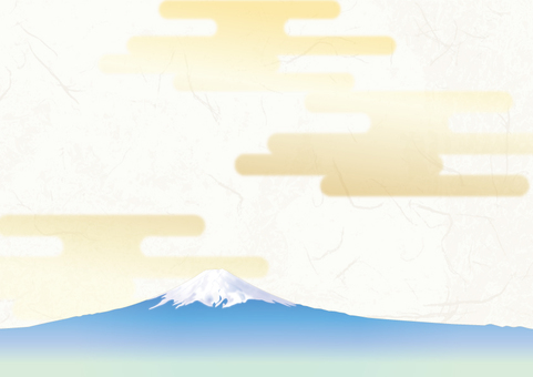 Japanese paper background _ Genji cloud at Mt. Fuji