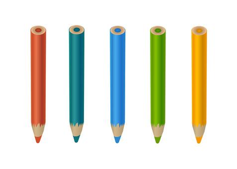 Colored pencil set - portrait orientation