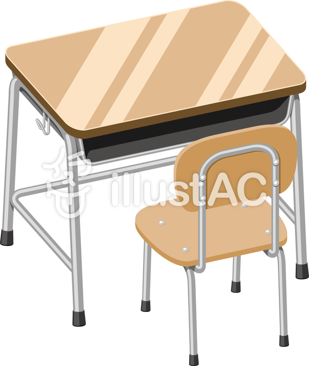 教室の机と椅子イラスト No 804303無料イラストならイラストac