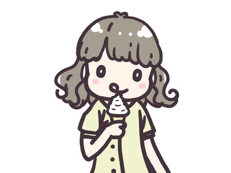 Eat soft cream
