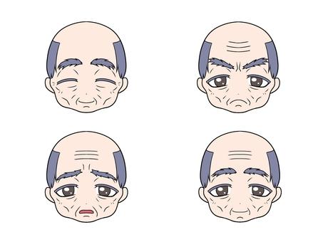 Cute Grandpa's face emotions