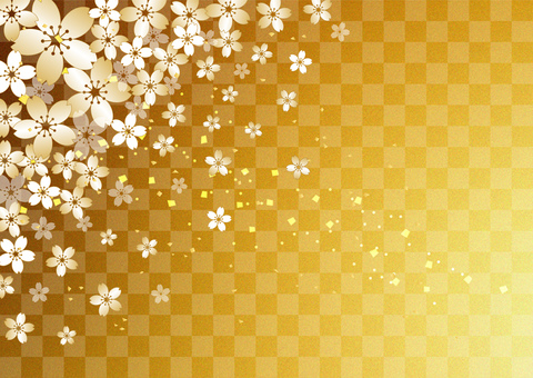 桜 _ lattice _ gold foil _ background