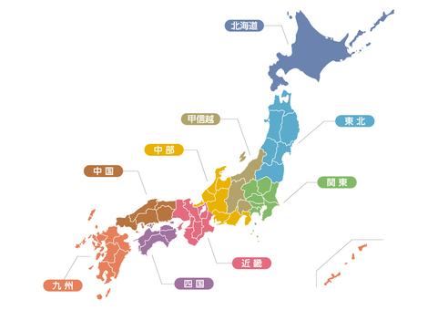 Japan Map_Region_ol