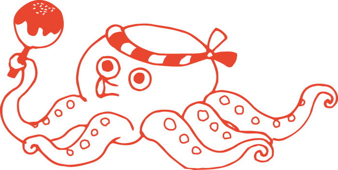 Takoyaki octopus (line only)