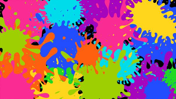 ペンキ インク 飛沫 飛び散り 壁紙