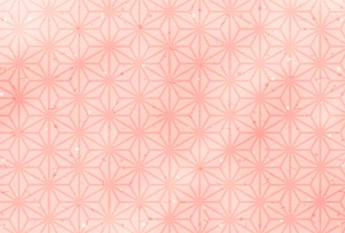 일본식 디자인 / 분홍색 / 대마