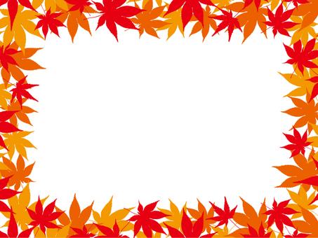 Autumn leaves frame 2