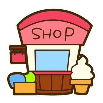 Shop of soft cream