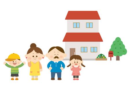 家族とマイホーム1