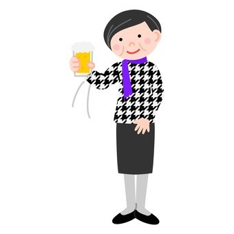 A veteran woman taking a toast