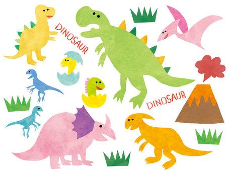 恐龍設置多彩