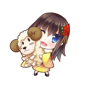 羊和女孩(正常)
