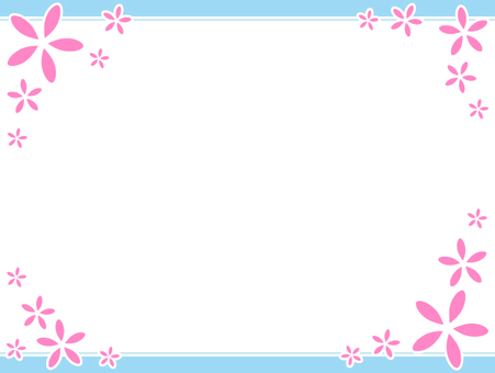Flower simple frame 3