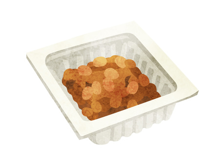 加工食品_大豆製品_納豆パック_水彩