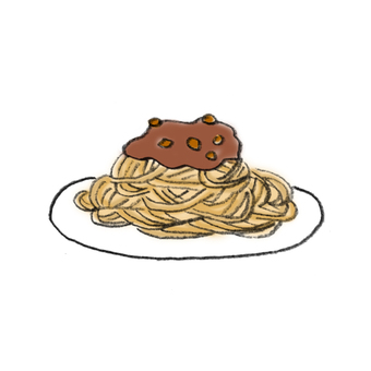 Meat sauce pasta