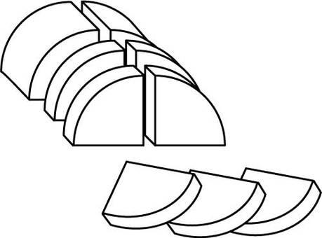 Ginkgo cutting radish 01 black and white
