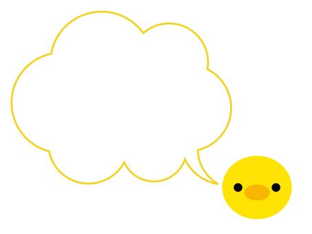 병아리 풍선 프레임 동물 황색