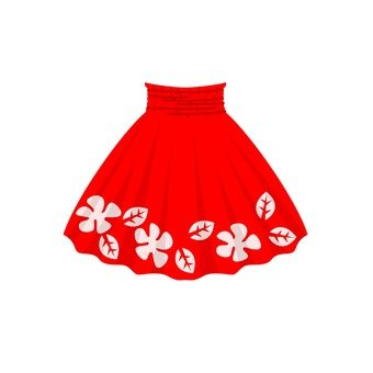 Paw skirt (red)