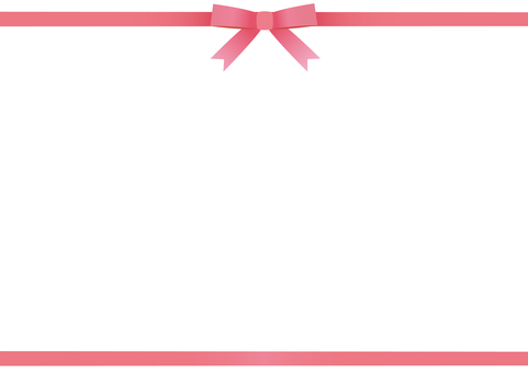 Ribbon upper and lower frame (pink)