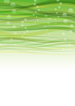 在海的紋理 - 綠色