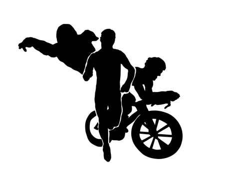 Triathlon silhouette 1