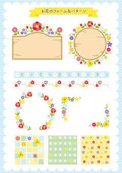 Frame pattern flowers