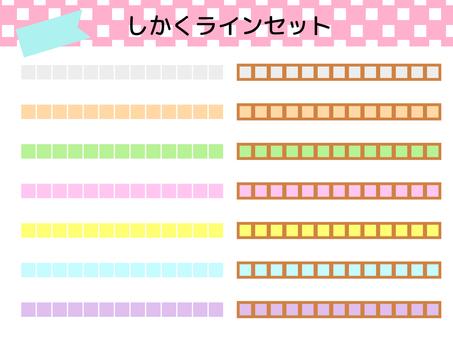 Line set pastel