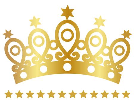 Tiara (star · gold)