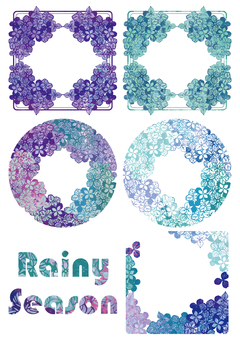 Rainy season flower hydrangea label