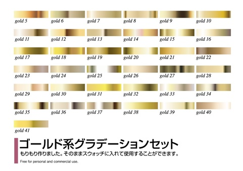Gold based gradation set