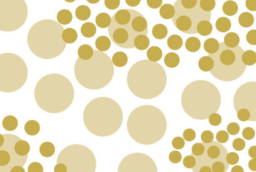 Background of golden polka dots