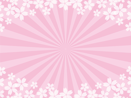 Sakura concentration line background
