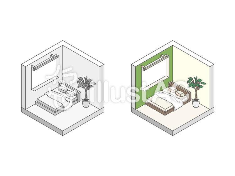 建物/家/寝室のイラスト