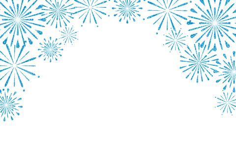 Fireworks frame (blue)