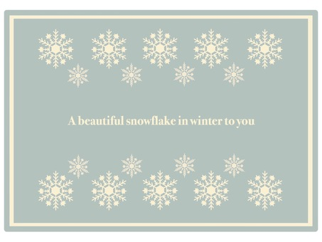 Frame snow crystal ① Classic